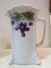 ancien pot pichet faience alsacienne art nouveau 1900 raisin 17,3 cm