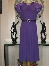 STUNNING, CLASSY COLLAGE BY SIMON ELLIS PURPLE SATIN DRESS, size 10