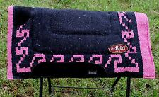 Cotton Western Horse Trail SADDLE PAD Rodeo Blanket Navajo Wool Pink Black 3407