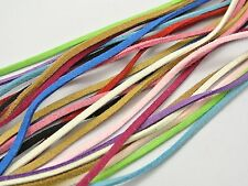 12 Meter Mixed Color Faux Suede Flat Leather Cord Lace String 3mm