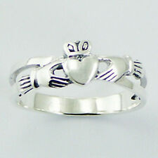 Silver Claddagh Ring Sterling Silver 925 Best Deal Plain Jewelry Gift Size 6