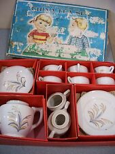 1930's-40's Little Duchess China Toy/Child/Doll Tea Set 22 Pieces w/ box Japan