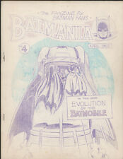 BATMANIA #4, April 1965, Comic Fanzine - VG