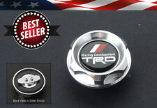 Push Fit Type CNC TRD Silver Engine Oil Filler Cap Cover For LEXUS SCION TOYOTA