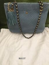 Auth Vintage Bally Quilted Suede Long Chain Tote Shoulder Bag Great