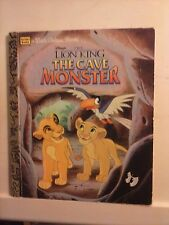 The Lion King The Cave Monster - A Little Golden Book 1996 Hardcover Good Cond.