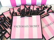 (20) VICTORIA'S SECRET PINK STRIPE MEDIUM SIZE PAPER SHOPPING GIFT BAG