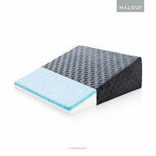 Z Gel-Infused Memory Foam Wedge Pillow - Therapeutic Bed Wedge with Removable