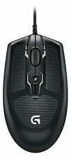 New OEM Logitech Grip Wired Mouse Mice Computer Mac Optical Gaming G100 Black