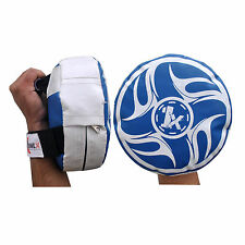 Round Focus Pad Boxing Target Pads MMA Punches Training Mitts Karate Kick Fit