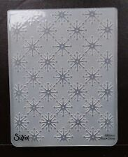 Sizzix Large 4.5x5.75in Embossing Folder CHRISTMAS SNOWFLAKES #14 fit Cuttlebug