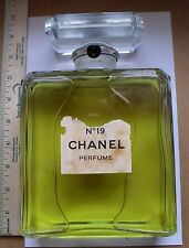 RARE VINTAGE CHANEL No.19 HUGE FACTICE DUMMY DISPLAY BOTTLE OVER 8'' TALL