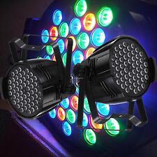 2x Flash LED PAR 64 54x3W RGBW Scheinwerfer Strobe DMX Auto Master Slave X'MAS