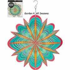 "12""/30cm STARBURST Stainless Steel Wind Spinner Sun Catcher Hook Garden Gift Pk"
