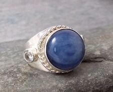*Clearance* Large 925 Silver Blue KYANITE Ring Sz P-8 R698~Silverwave*uk