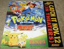 POKEMON THE FIRST MOVIE: MEWTWO STRIKES BACK POSTER - Nintendo, Pikachu
