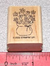 Stampin Up All Occasions Stamp Single Flower Bouquet Bow of ribbon Floral Pot