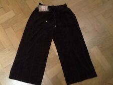 NWT Juicy Couture New & Gen. Ladies Small Brown Crop Leg Cotton Pants UK 8/10
