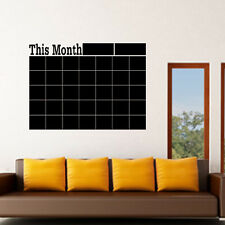 Monthly Planner Calendar Blackboard Removable Wall Sticker Chalk Board Decal