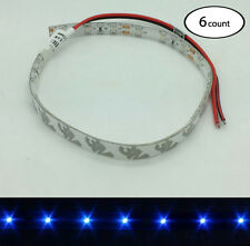 6 PCS 12V DC BLUE LED STRIP LIGHT WITH ADHESIVE 3M BACKING FOR KAYAK CANOE BOATS