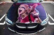 Vinyl Car Hood Harley Quinn Suicide Squad Graphics Decal Sticker fit any Auto