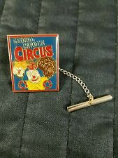 CIRCUS Tie Tac George Carden Circus Clown Lion Tiger Goldtone Perfect