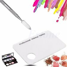 Cosmetic Acrylic Makeup Nail Eye Shadow Mixing Palette + Stainless Spatula Tool