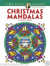 Christmas Mandalas Adult Colouring Book Creative Art Therapy Relaxing Gift