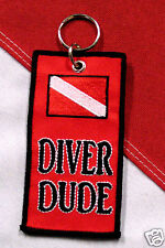 Key chain diver dude scuba diving equipment boat fun novelty diver snorkeling