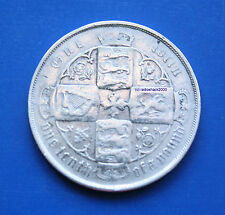 Queen Victoria British Silver Florin One tenth of a pound 1883 92.5% silver