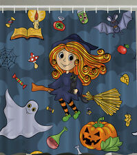 "NICE WITCH GHOST PUMPKIN POISON Halloween 70"" Fabric Bathroom Shower Curtain"