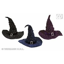 Glitter Velvetet Witch / Wizard Hat for Magic School Fancy Dress Accessory