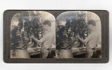 Stereoscopic image of a Shoe Factory, Massachusetts (C2516).