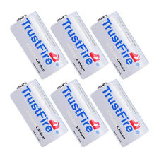 6X TrustFire CR123A 16340 1400mAh 3.0V Non-Rechargeable Li-ion Battery From USA