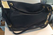MICHAEL KORS soft leather Navy gather bag with chain trim handle - new with tags