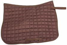 ALL PURPOSE ENGLISH HORSE TACK JUMPER TRAIL DRESSAGE BROWN QUILTED SADDLE PAD
