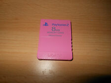OFFICIAL PINK SONY PS2 8mb MEMORY CARD FREE  UK POST