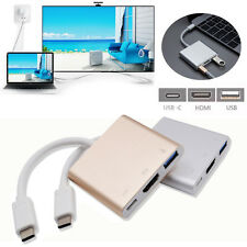 Type C USB3.1 to USB-C 4K 1080P HDMI USB3.0 Adapter 3 in1 Hub For Apple Macbook