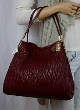 NWT COACH 26257 Madison Phoebe Gathered Twist Leather Hobo Shoulder Bag Brick