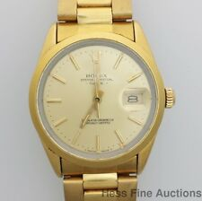 Scarce 15505 Rolex Gold Clad Mens 3035 Chronometer Vintage Wrist Watch