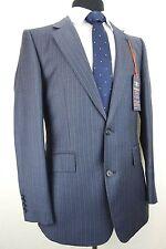 Mens Hammond & Co by Patrick Grant Navy Blue Pinstripe Suit 44R W38 L31 EZ448