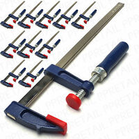 LARGE SET OF 10 HEAVY DUTY 300x50mm F CLAMPS Metal Quick Change Wood Clasps