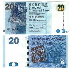 HONG KONG $ 20 STANDARD CHARTERED BANK 2012 UNC P 297