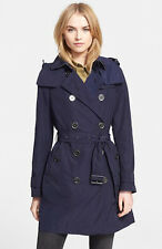 NEW Burberry Brit Balmoral Trench Coat Jacket Navy size 12 EU46 $795 Layaway YES
