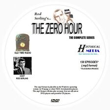 ZERO HOUR - 130 Shows Old Time Radio In MP3 Format OTR On 1 DVD   ROD SERLING