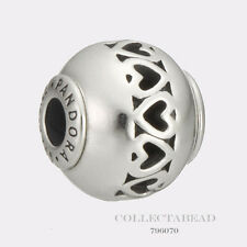 Authentic Pandora Essence Collection Sterling Silver Love Bead 796070