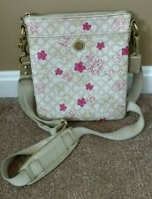 Coach Waverly Flower Floral PVC Crossbody Swingpack Shoulder Pink Flower 45047