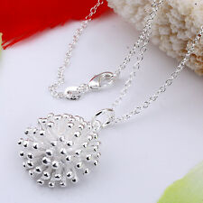 Lowest price wholesale solid silver fashion fireworks&chain  necklace +box DN07