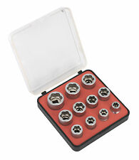 "Sealey Perno Extractor Socket Set 11pc 3/8 ""Sq Disco métricas"