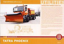 Tatra Phoenix T158 8P5R23.372 4x4 2015 catalogue brochure truck snowplow